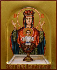 Рукописная икона Неупиваемая Чаша 13 (Размер 13*16 см)