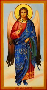 Рукописная икона Ангел Хранитель 148 (Размер 13*25 см)