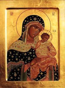 Рукописная икона Голубинская  (Голубицкая, Коневская)