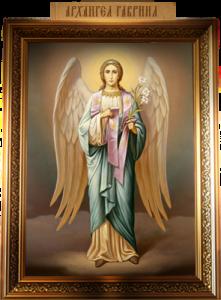Рукописная икона Архангел Гавриил 2