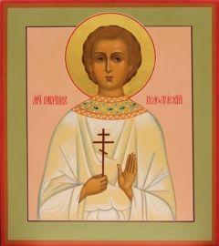 Рукописная икона Гавриил Белостокский Слуцкий