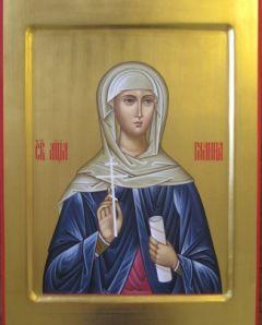 Рукописная икона Святая Галина
