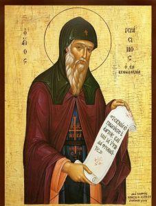 Рукописная икона Герасим Вологодский