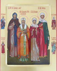 Рукописная семейная икона 14
