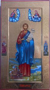 Рукописная икона Никита Константинопольский