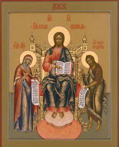 Рукописная икона Деисус