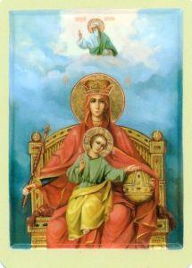 Рукописная икона Державная Божия Матерь