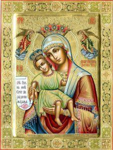 Рукописная икона Достойно Есть