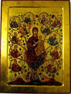 Рукописная икона Древо Иессеево