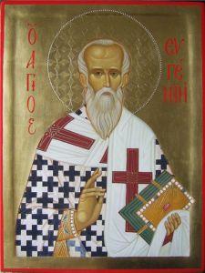 Рукописная икона Евгений Херсонесский