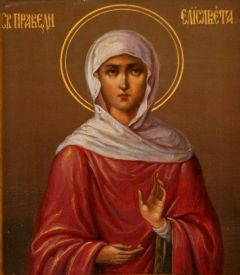 Рукописная икона Елизавета Праведная