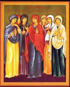Рукописная икона Жены Мироносицы