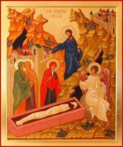 Рукописная икона Жены Мироносицы у Гроба Господня