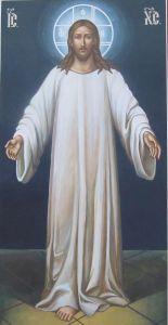 Рукописная икона Спаситель
