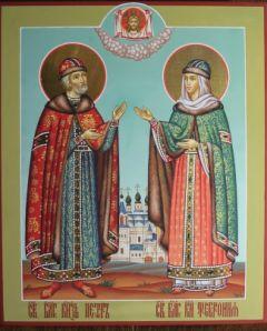 Рукописная икона Петр и Феврония 11