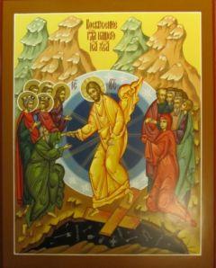 Рукописная икона Воскресение Христово