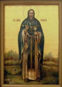 Рукописная икона Иоанн Оленевский