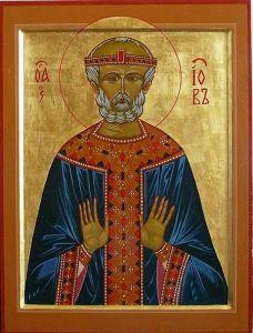 Рукописная икона Иов Многострадальный