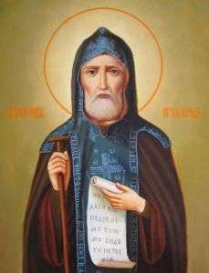 Рукописная икона Иов Почаевский