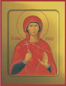 Рукописная икона Ираида