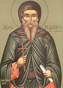 Рукописная икона Исаакий Далматский