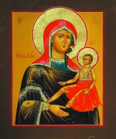 Рукописная икона Кипрская Божия Матерь