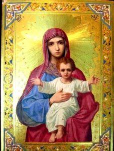 Рукописная икона Объятие Отче