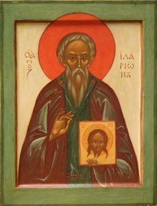 Рукописная икона Иларион Новый Далматский