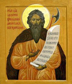 Рукописная икона Лаврентий Калужский