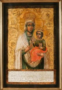 Рукописная икона Любечская