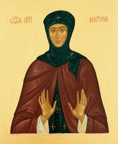 Рукописная икона Марина Берийская