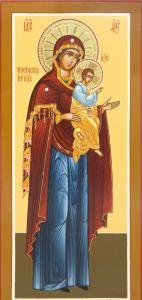Рукописная икона Моденская Косинская