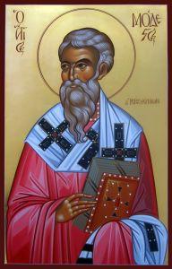 Рукописная икона Модест Иерусалимский
