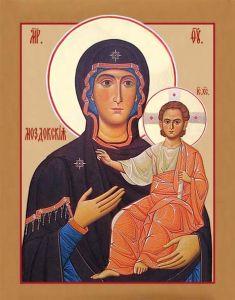 Рукописная икона Божией Матери Моздокская