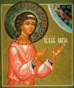 Рукописная икона Муза Римляныня