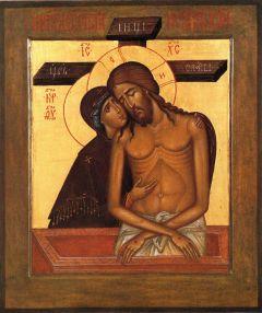 Рукописная икона Божией Матери Не Рыдай Мене Мати