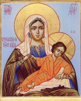 Рукописная икона Божией Матери Незнановская
