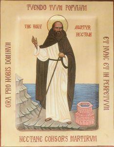 Рукописная икона Нектан Хартландский