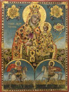 Рукописная икона Неувядаемая Роза