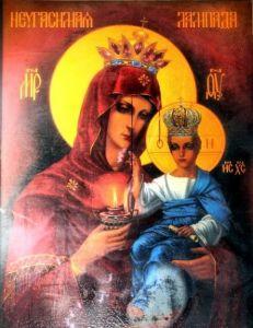 Рукописная икона Неугасимая Лампада