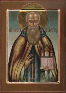 Рукописная икона Никита Костромской