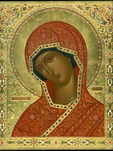 Рукописная икона Огневидная
