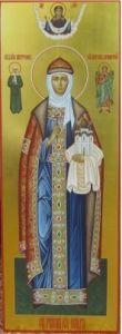 Рукописная икона Ольга Равноапостольная