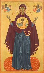 Рукописная икона Оранта