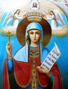 Рукописная икона Параскева Пятница