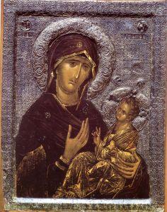 Рукописная икона Перивлепта
