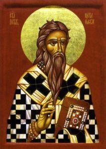 Рукописная икона Петр Цетиньский