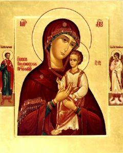 Рукописная икона Пименовская