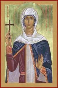 Рукописная икона Прискилла Римская
