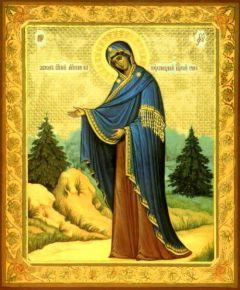 Рукописная икона Пюхтицкая